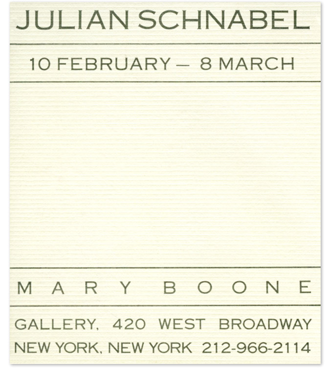 Mary Boone Gallery History 1978