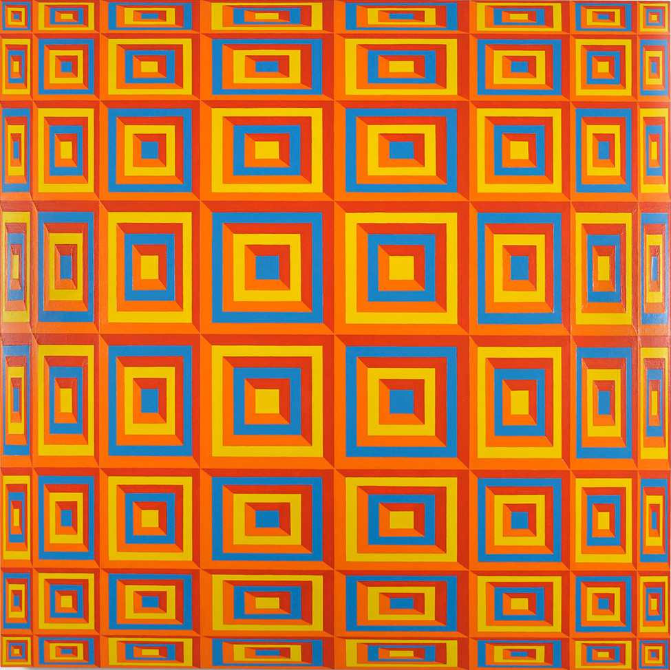 Untitled (yellow 116, orange 1505,  red 179, blue 2925)