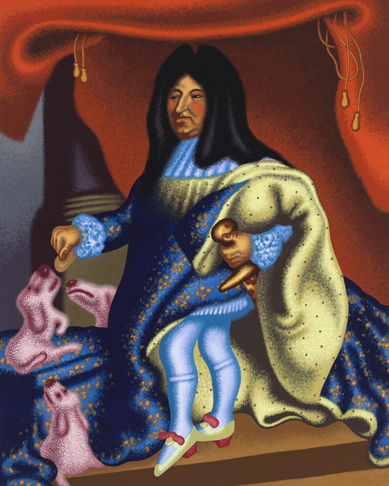 Louis XIV Feeds His Pets