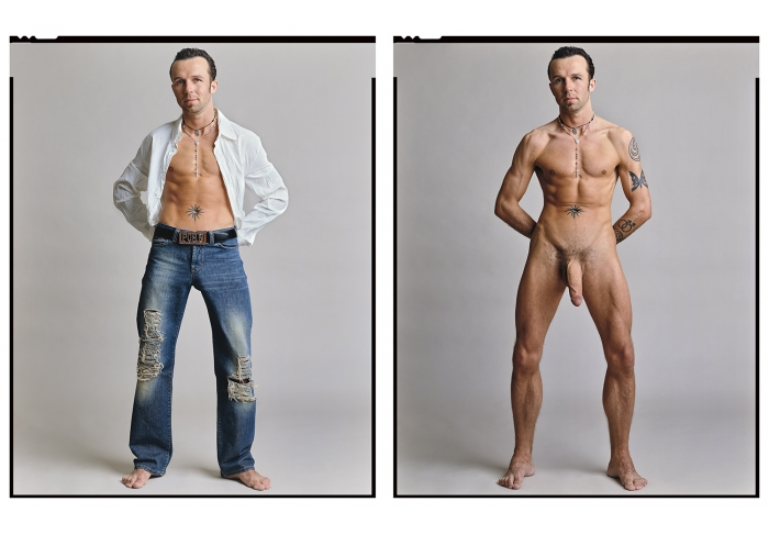 Timothy Greenfield-Sanders Chad Hunt (Clothed/Nude) (1/3)