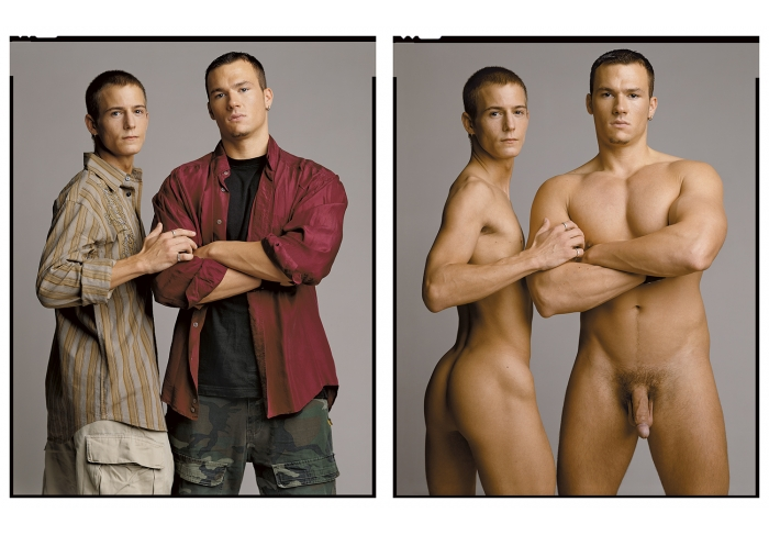 Timothy Greenfield-Sanders Jeremy Jordan and Jason Hawke (Clothed/Nude) (1/3)