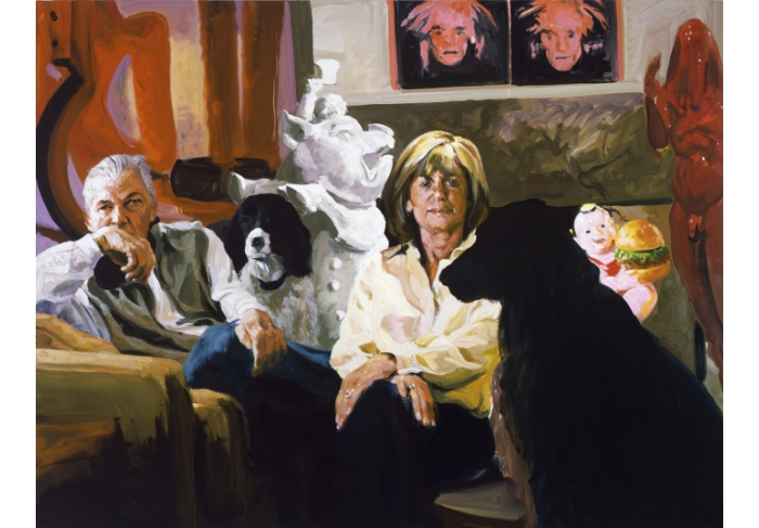 Eric Fischl Portrait of Kent and Vicki Logan