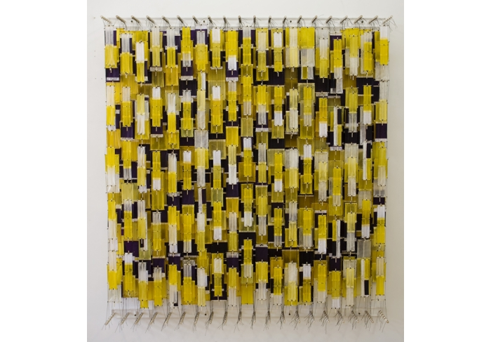 Jacob Hashimoto Yellow, Sometimes Purple, Often White
