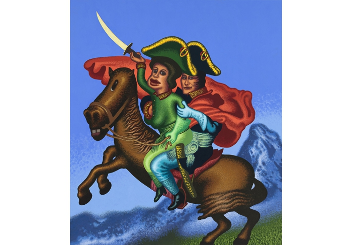 Peter Saul Two Napoleons Crossing the Alps
