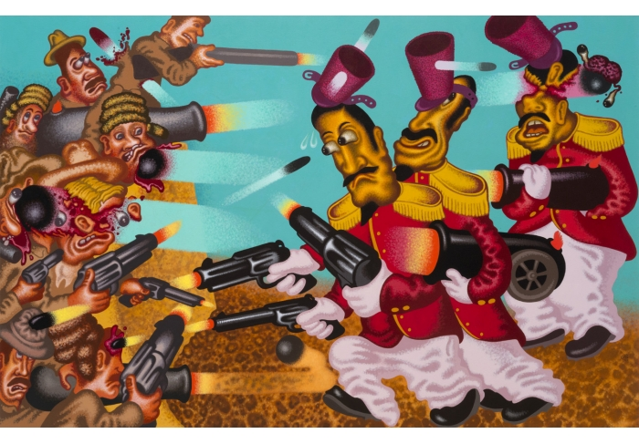 Peter Saul Return to the Alamo